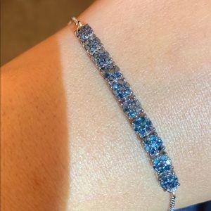 Jewelry - Blue diamond (IR) bracelet 0.75 Cts